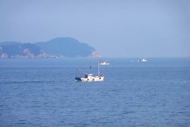 瀬戸内海の漁船