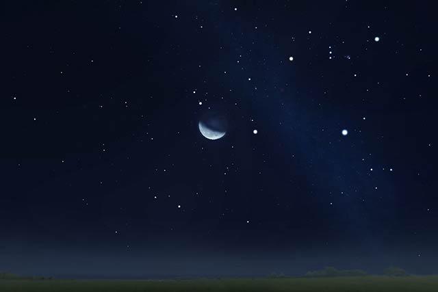 二十三夜の月