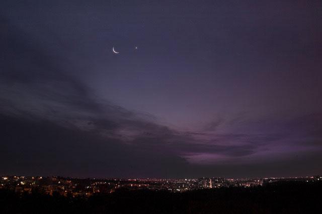 宵の三日月